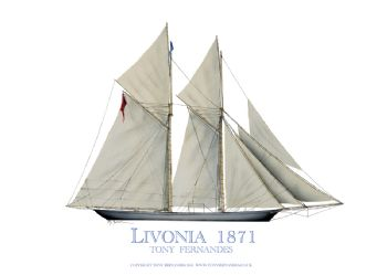 1871 Livonia - signed print